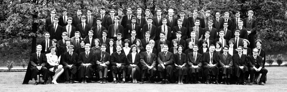 Geography Department Undergraduate Group photo from 1966