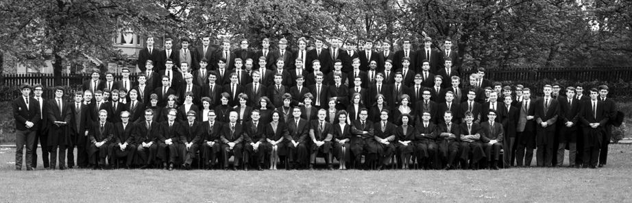 Geography Department Undergraduate Group photo from 1967