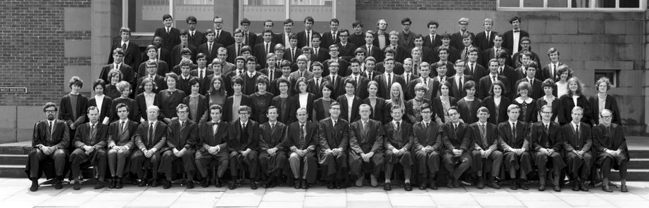 Geography Department Undergraduate Group photo from 1968