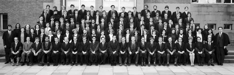 Geography Department Undergraduate Group photo from 1969