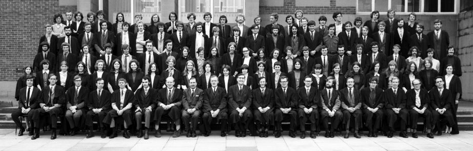 Geography Department Undergraduate Group photo from 1971