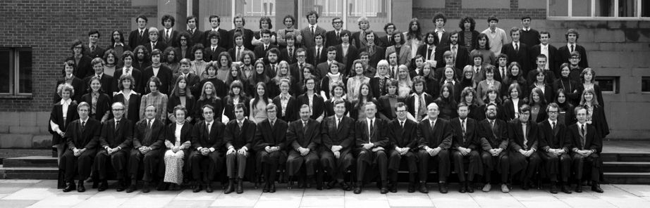 Geography Department Undergraduate Group photo from 1972