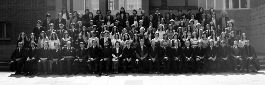 Geography Department Undergraduate Group photo from 1973