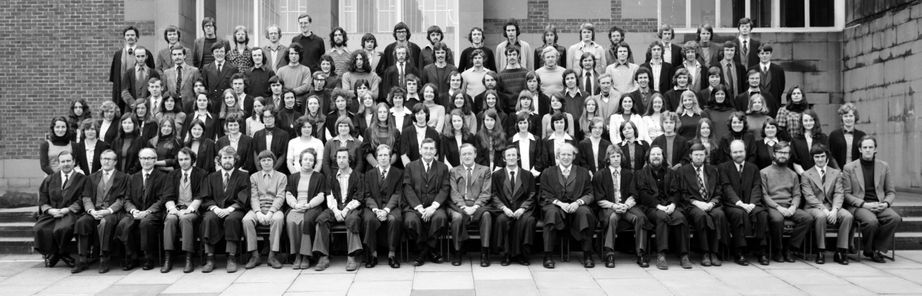 Geography Department Undergraduate Group photo from 1975