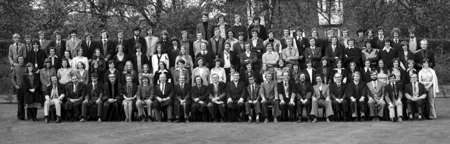 Geography Department Undergraduate Group photo from 1976