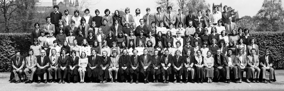 Geography Department Undergraduate Group photo from 1977