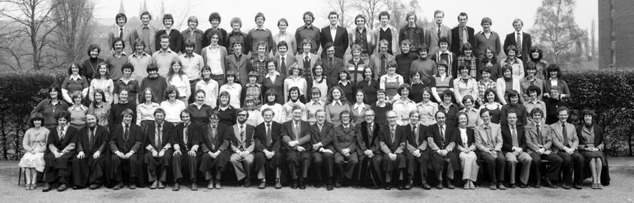 Geography Department Undergraduate Group photo from 1978