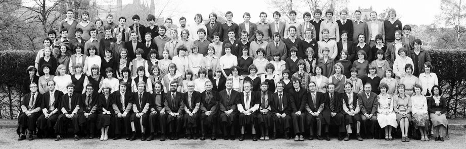 Geography Department Undergraduate Group photo from 1981