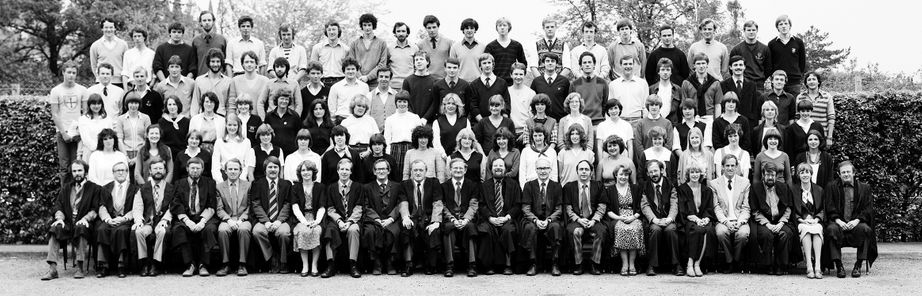 Geography Department Undergraduate Group photo from 1982
