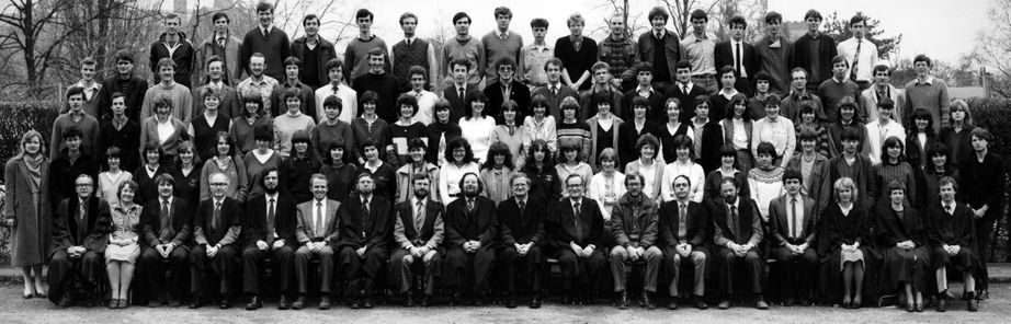 Geography Department Undergraduate Group photo from 1983