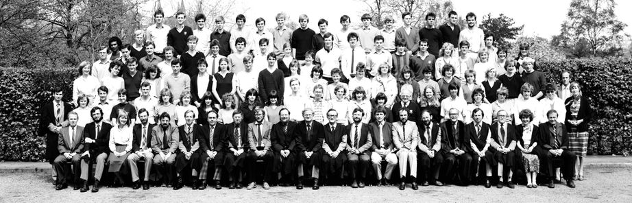 Geography Department Undergraduate Group photo from 1984