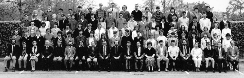 Geography Department Undergraduate Group photo from 1985