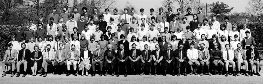 Geography Department Undergraduate Group photo from 1986