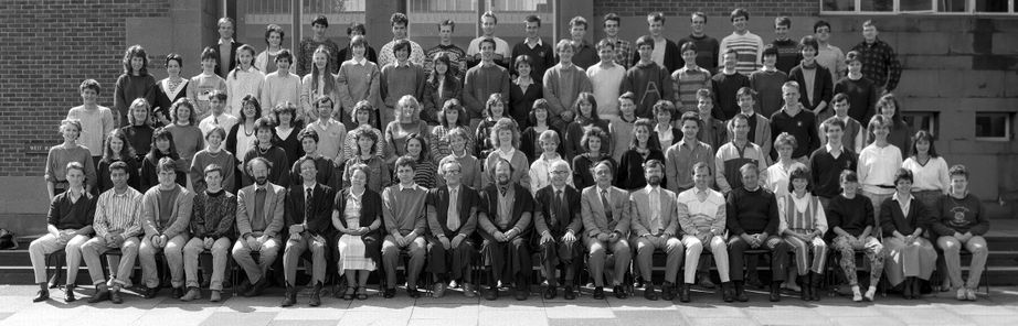 Geography Department Undergraduate Group photo from 1987