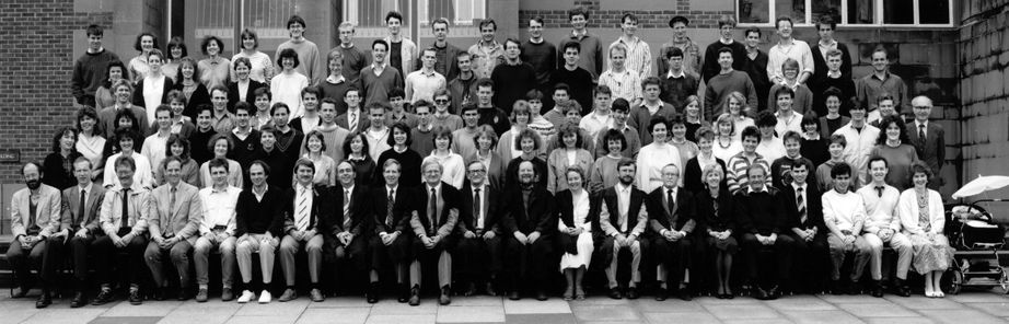 Geography Department Undergraduate Group photo from 1988