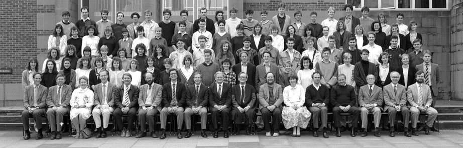 Geography Department Undergraduate Group photo from 1989