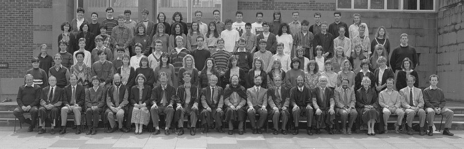 Geography Department Undergraduate Group photo from 1991