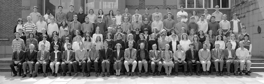 Geography Department Undergraduate Group photo from 1994