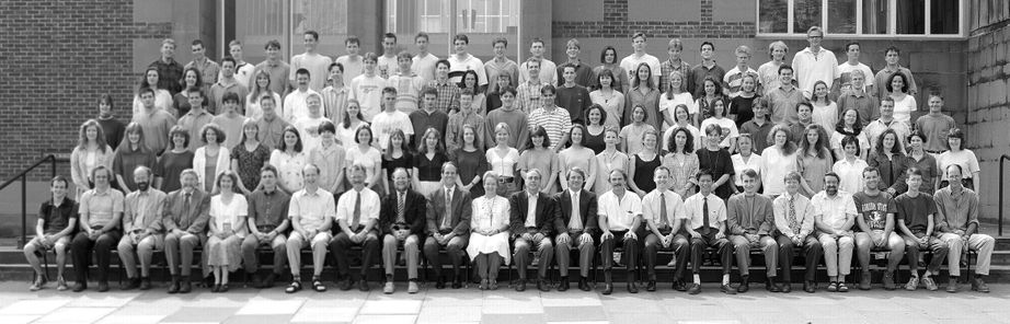 Geography Department Undergraduate Group photo from 1995