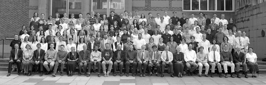 Geography Department Undergraduate Group photo from 1997