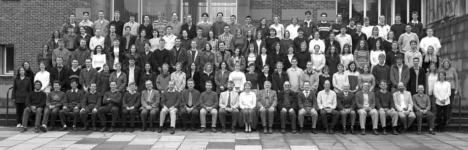 Geography Department Undergraduate Group photo from 1998