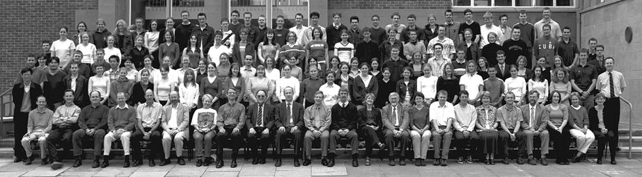 Geography Department Undergraduate Group photo from 2001
