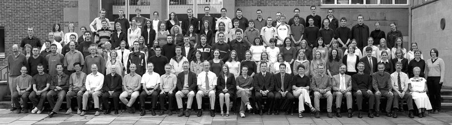 Geography Department Undergraduate Group photo from 2002