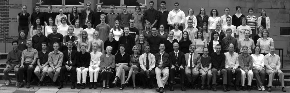 Geography Department Undergraduate Group photo from 2003