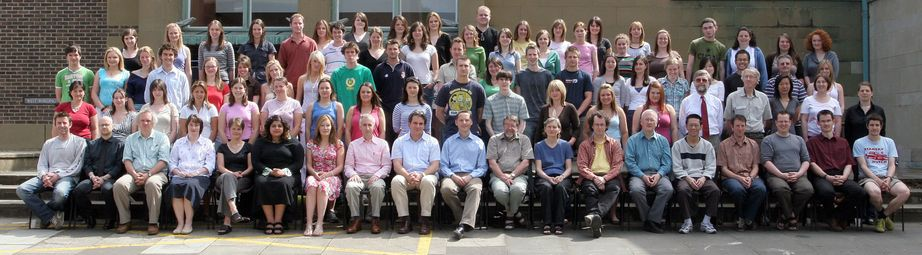 Geography Department Undergraduate Group photo from 2006