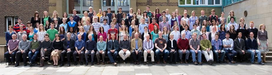 Geography Department Undergraduate Group photo from 2009