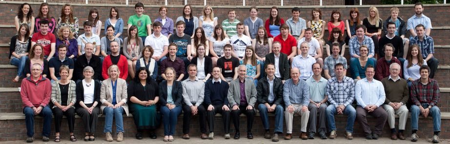 Geography Department Undergraduate Group photo from 2011