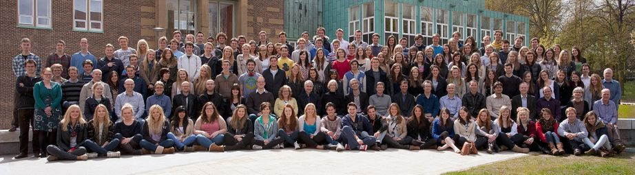 Geography Department Undergraduate Group photo from 2012