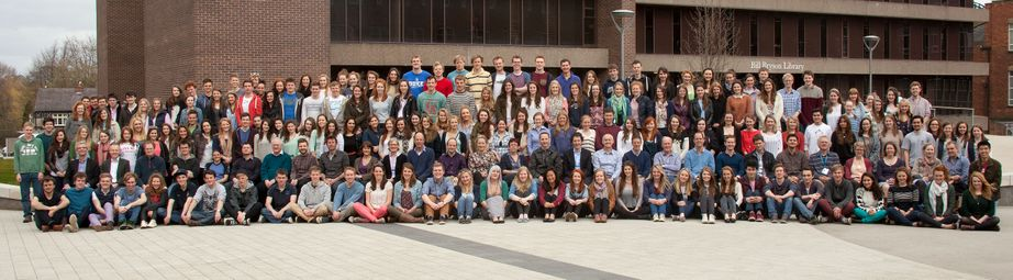 Geography Department Undergraduate Group photo from 2013