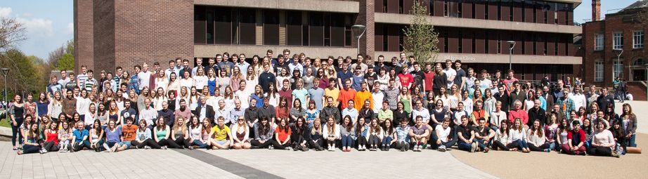 Geography Department Undergraduate Group photo from 2014