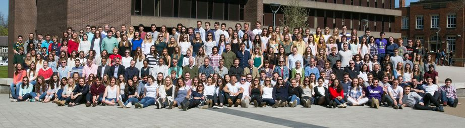 Geography Department Undergraduate Group photo from 2015