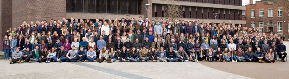 Geography Department Undergraduate Group photo from 2016