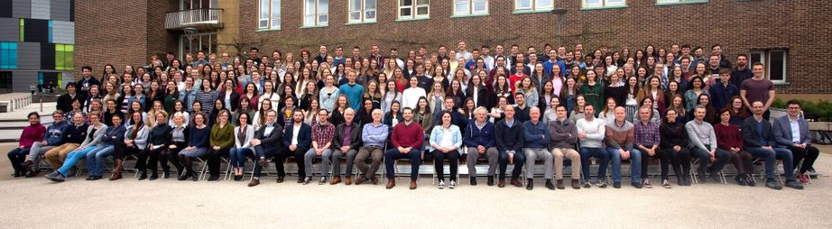 Geography Department Undergraduate Group photo from 2018