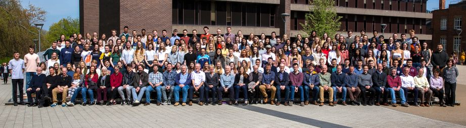 Geography Department Undergraduate Group photo from 2019
