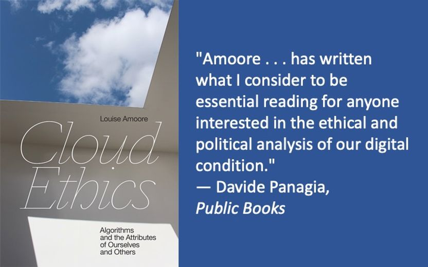 Louise Amoore's Cloud Ethics Book