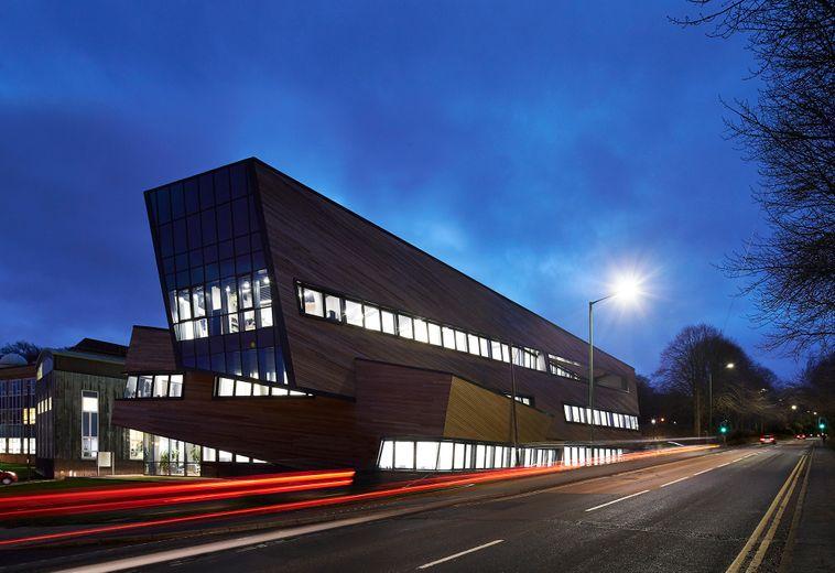 Ogden Centre for Fundamental Physics at night
