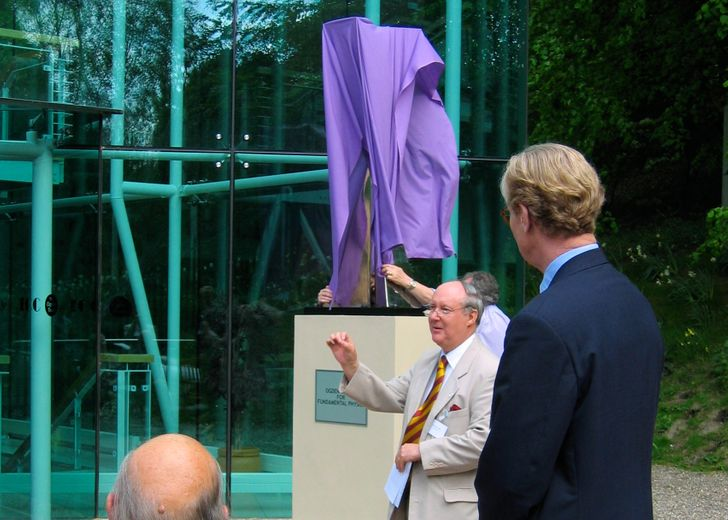 The Sculpture outside the Ogden Centre for Fundamental Physics is formally unveiled, called Forces of Nature