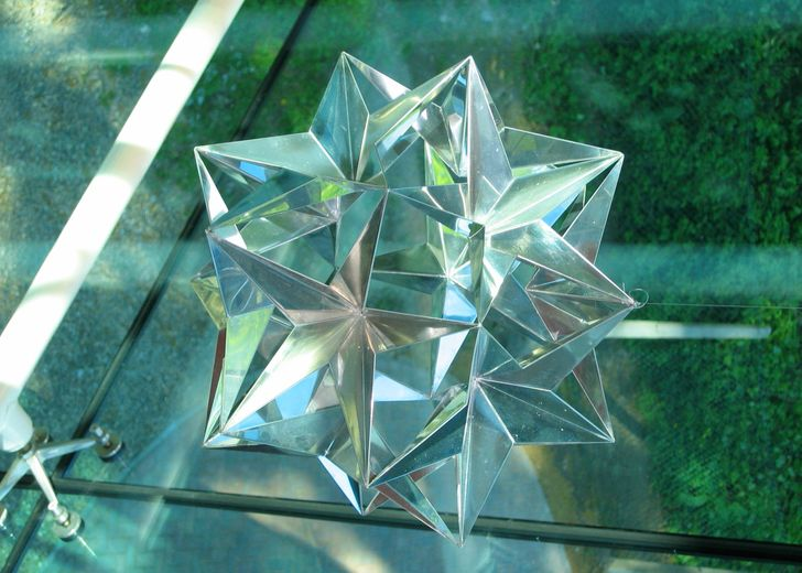 Starburst Sculpture that hangs in the lobby of the Ogden East building