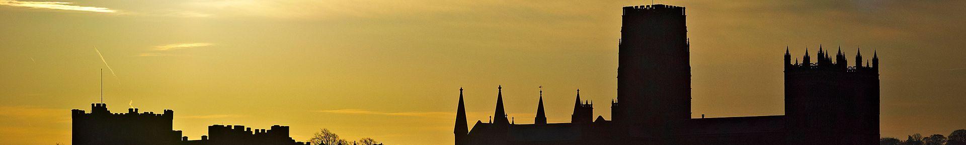 Durham City skyline at sunset