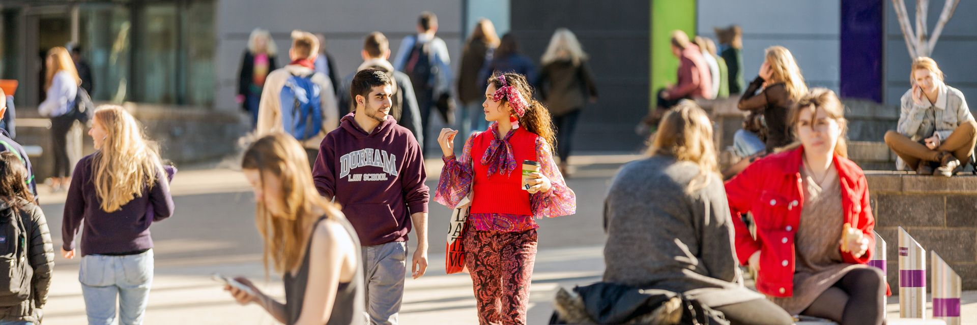 Lower Mountjoy campus bustling with students between lessons